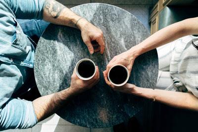 Tafeltje gesprek aan tafel